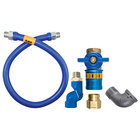 Dormont 1650BPCFS48 Safety Quik® 48 inch Gas Connector Kit with Swivel MAX®, and Elbow - 1/2 inch Diameter