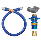 Dormont 16100BPCF72 Safety Quik® 72 inch Gas Connector Kit with Elbow - 1 inch Diameter