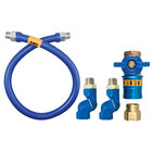 Dormont 16100BPCF2S48 Safety Quik® 48 inch Gas Connector Kit with Double Swivel MAX® - 1 inch Diameter