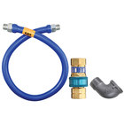 Dormont 16125BPQ60 SnapFast® 60 inch Gas Connector Kit with Elbow - 1 1/4 inch Diameter