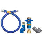 Dormont 1675BPCFS72 Safety Quik® 72 inch Gas Connector Kit with Swivel MAX®, and Elbow - 3/4 inch Diameter