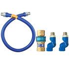 Dormont 1650BPQ2S72 SnapFast® 72 inch Gas Connector Kit with Double Swivel MAX® - 1/2 inch Diameter