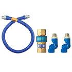 Dormont 16125BPQ2S48 SnapFast® 48 inch Gas Connector Kit with Double Swivel MAX® - 1 1/4 inch Diameter