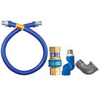 Dormont 1675BPQS36 SnapFast® 36 inch Gas Connector Kit with Swivel MAX® and Elbow - 3/4 inch Diameter