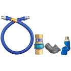 Dormont 1650BPQS72 SnapFast® 72 inch Gas Connector Kit with Swivel MAX® and Elbow - 1/2 inch Diameter