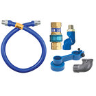 Dormont 1675BPQS24 SnapFast® 24 inch Gas Connector Kit with Swivel MAX® and Elbow - 3/4 inch Diameter
