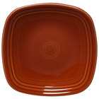 Homer Laughlin 921334 Fiesta Paprika 7 1/2 inch Square Salad Plate - 12 / Case