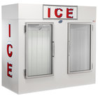 Leer 85AG 84 inch Indoor Auto Defrost Ice Merchandiser with Straight Front and Glass Doors