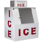 "Leer 40CSL 51"" Outdoor Cold Wall Ice Merchandiser with Slanted Front and Stainless Steel Door"