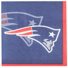 Creative Converting 650519 New England Patriots 2-Ply Beverage Napkin - 192/Case