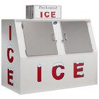 Leer 60ASL 73 inch Outdoor Auto Defrost Ice Merchandiser with Slanted Front and Stainless Steel Doors