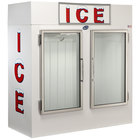 Leer 60CG 73 inch Indoor Cold Wall Ice Merchandiser with Straight Front and Glass Doors