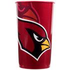 Creative Converting 119501 Arizona Cardinals 22 oz. Plastic Souvenir Cup - 20/Case
