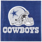 Creative Converting 669509 Dallas Cowboys 2-Ply Luncheon Napkin - 192/Case