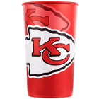 Creative Converting 119516 Kansas City Chiefs 22 oz. Plastic Souvenir Cup - 20/Case