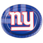 Creative Converting 069521 New York Giants 10 inch x 12 inch Oval Paper Platter - 96/Case