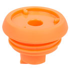 Choice 64 oz. 9 1/2 inch x 5 1/2 inch Insulated Thermal Coffee Carafe / Server Orange Brew Thru Lid