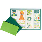 Hoffmaster 856782 10 inch x 14 inch St. Patrick's Day Placemat Combo Pack   - 250/Case