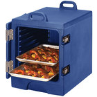 Cambro 1318MTC186 Camcarrier Navy Blue Insulated Tray / Sheet Pan Carrier - Front Load, Holds Half Size Pans