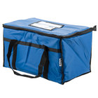 Choice Insulated Food Delivery Bag / Pan Carrier, Blue Nylon, 23