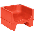 Lancaster Table & Seating Red Dual Height Plastic Booster Seat