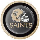 Creative Converting 343957 New Orleans Saints 7 inch Luncheon Paper Plate - 96/Case