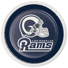 Creative Converting 335918 Los Angeles Rams 7 inch Luncheon Paper Plate - 96/Case
