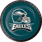 Creative Converting 419524 Philadelphia Eagles 7 inch Luncheon Paper Plate - 96/Case