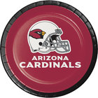 Creative Converting 419501 Arizona Cardinals 7 inch Luncheon Paper Plate - 96/Case