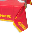 Creative Converting 729516 Kansas City Chiefs 54 inch x 102 inch Plastic Table Cover - 12/Case