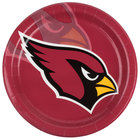 Creative Converting 429501 Arizona Cardinals 9 inch Paper Dinner Plate - 96/Case