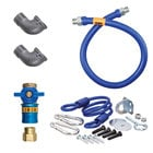 Dormont 1650KITCF48 Deluxe Safety Quik® 48 inch Gas Connector Kit with Two Elbows and Restraining Cable - 1/2 inch Diameter