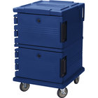 Cambro UPC1200186 Ultra Camcarts® Navy Blue Insulated Food Pan Carrier - Holds 16 Pans