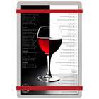 Menu Solutions ALSIN58-RB Alumitique 5 1/2 inch x 8 1/2 inch Customizable Brushed Aluminum Menu Board with Red Bands