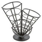 American Metalcraft FCB33 Wrought Iron 3-Cone Basket - 10 1/2 inch x 10 inch