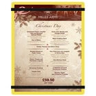 Menu Solutions ACRB-C Yellow 8 1/2 inch x 11 inch Customizable Acrylic Menu Board with Rubber Band Straps