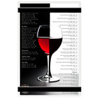 Menu Solutions ACRB-A Clear Frosted 5 1/2 inch x 8 1/2 inch Customizable Acrylic Menu Board with Rubber Band Straps