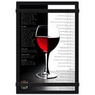 Menu Solutions ACRB-A Black 5 1/2 inch x 8 1/2 inch Acrylic Menu Board with Rubber Band Straps