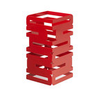 "Rosseto SM186 Skycap 12"" Red Gloss Steel Multi-Level Riser"