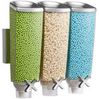Rosseto EZP2906 EZ-PRO 3.8 Liter Triple Canister Wall-Mounted Food Dispenser