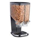 Rosseto EZS1074 EZ-SERV 4.2 Liter Double Canister Tabletop Food Dispenser with Black Metal Stand - 11