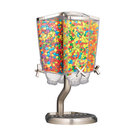 """Rosseto EZP2760 EZ-PRO 3.8 Liter Four Canister Tabletop Carousel Food Dispenser with Stainless Steel Stand and Catch Tray - 14"""" x 13"""" x 22"""""""