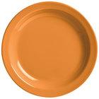 World Tableware VCO-6 Veracruz 6 1/2 inch Round Cantaloupe Narrow Rim China Plate - 36/Case