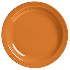 World Tableware VCO-16 Veracruz 10 1/2 inch Round Cantaloupe Narrow Rim China Plate - 12/Case