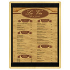 Menu Solutions WDSTR-C Natural 8 1/2 inch x 11 inch Customizable Wood Menu Board with Top and Bottom Strips
