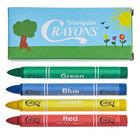 Choice 4 Pack Triangular Kids' Restaurant Crayons in Print Box - 500/Case