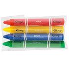 Choice 4 Pack Triangular Kids' Restaurant Crayons in Cello Wrap - 500/Case
