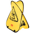 Rubbermaid FG9S0700YEL 20 inch Yellow Multi-Lingual Wet Floor Sign Folding Safety Cone - Caution