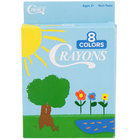 Choice 8 Assorted Colors Bulk School Crayons Pack - 50/Case