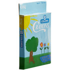 Choice 8 Assorted Colors Bulk School Crayons Pack in Print Box - 50/Case